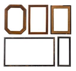 Set of old frames