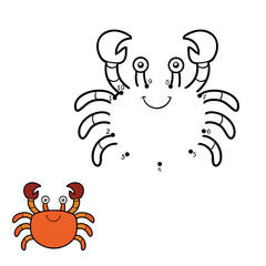 Numbers game, dot to dot (crab)