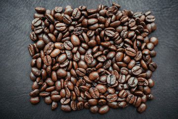 Coffee beans on background