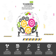 Teamwork graphic vector design