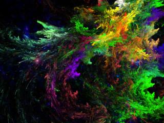Fractal Pattern color explosion / Fraktal Muster Farb Explosion