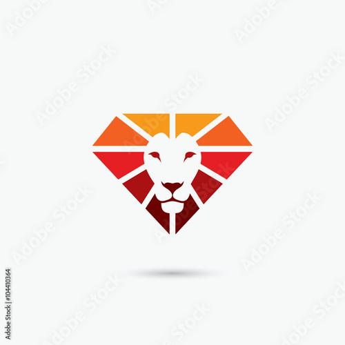 Fire diamond lion symbol