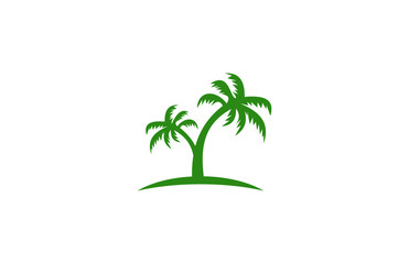 palm tree green logo