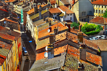 View of Tournus, the beautiful village of Burgundy