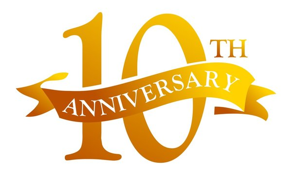 10 Year Ribbon Anniversary