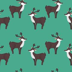 cartoon decorative deer seamless pattern background