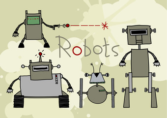 Child's drawings of robots