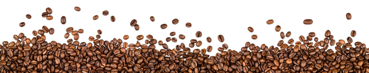 Poster de jardin Café en grains coffee beans isolated on white background