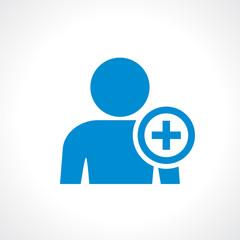 Add person to friendlist icon