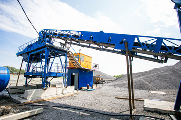 Cement production in quarry