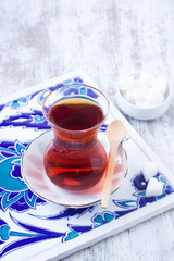 A glass of Turkish Black Tea