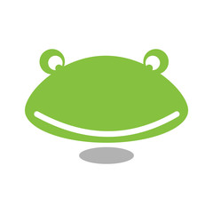 Unique Simple Green Frog Toad Icon
