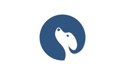 circle dog logo