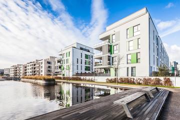 moderne Neubausiedlung