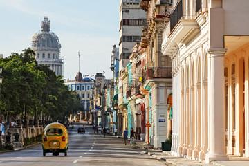 Autocollant pour porte Havana Cuba, La Habana, Paseo de Martí (Prado)