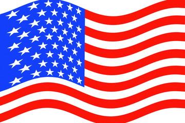 us or American flag waving as bacground