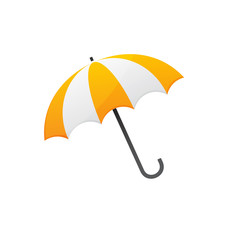 yellow white umbrella