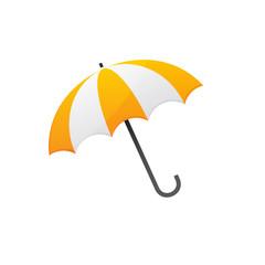 yellow white umbrella