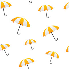 yellow umbrella seamless background