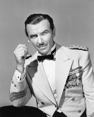 Elegant man in his formal uniform