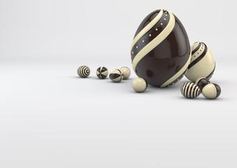 chocolate Easter elegant eggs