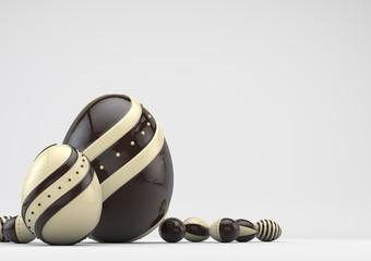 elegant chocolate Easter eggs