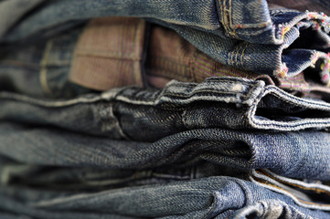Blue Jeans Denim background texture