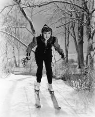 Portrait of female skier
