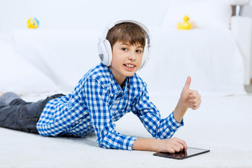 Kid enjoying leisure time