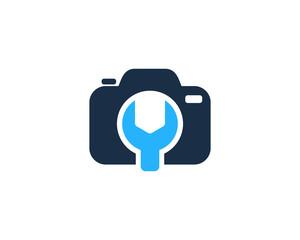 Camera Repair Photography Logo Design Template