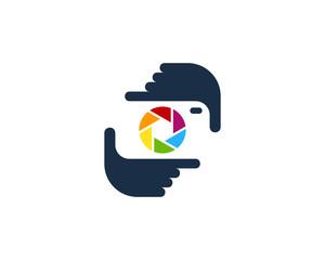 Camera Frame Photography Logo Design Template