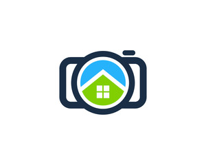 Camera Home Photography Logo Design Template