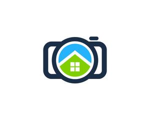Camera Home Photography Logo Design Template