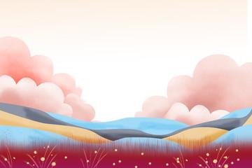 Creative Illustration and Innovative Art: Colorful Land. Realistic Fantastic Cartoon Style Artwork Scene, Wallpaper, Story Background, Card Design