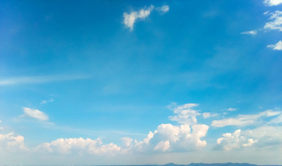 White Cloud in Sky Background