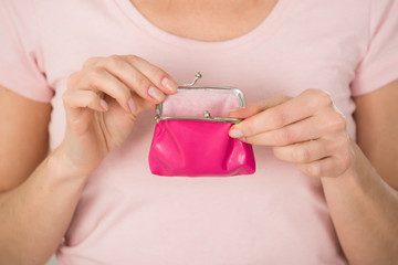 Woman Holding Small Purse