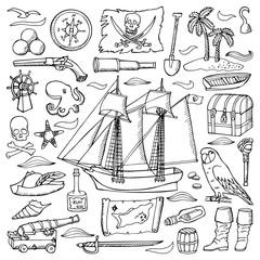 Pirates hand drawn set