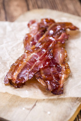 Bacon stripes (fried)