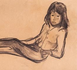 Instant sketch, girl