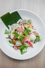 Thai seafood saald