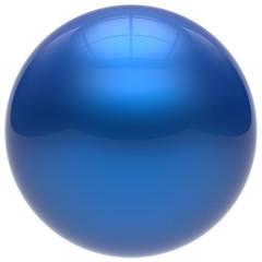 Sphere button round ball blue geometric shape basic circle