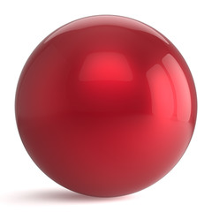 Sphere button round red ball geometric shape basic circle