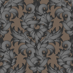 Seamless damask floral pattern