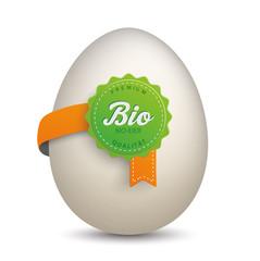 Label mit Ei - Bioeier Premium Qualität