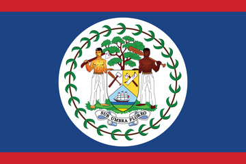 Belize flag.