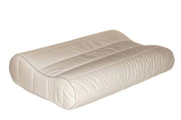 Orthopedic pillow for a dream, it is isolated on the white.