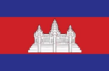 Cambodian flag. Fototapete