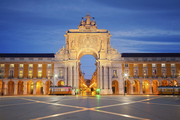 Lisbon. Image of Arch of Triumph in Lisbon, Portugal.