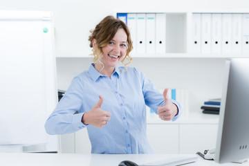 motiviert erfolgreiche managerin