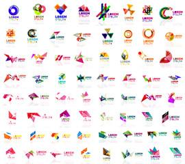 Mega set of geometrical abstract logos